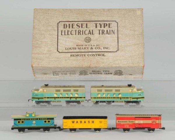 1606: Marx No. 9554 Diesel Freight Train Set.