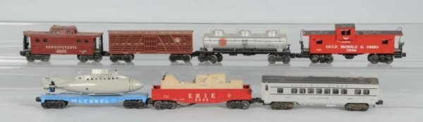 1613: Lot of 7: Misc. Freight Cars.