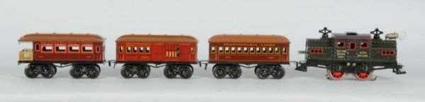 1891: Bing O-Gauge Lithographed & Painted Passenger Set