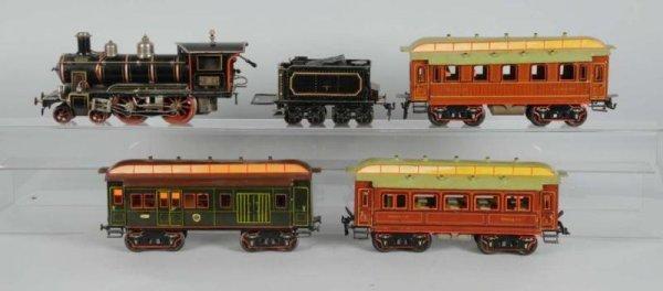 1912: Marklin 2-Gauge F&E Live Steam Passenger Set.
