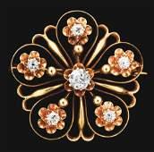 14K GOLD CONVERTIBLE DIAMOND FLOWER ESTATE