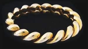 18K GOLD SAN-MARCO ESTATE JEWELRY BRACELET.
