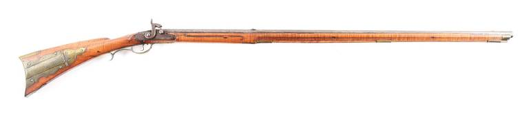 (A) ATTRIBUTED LEHIGH COUNTY KENTUCKY PERCUSSION RIFLE.