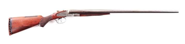 (C) L.C. SMITH IDEAL GRADE SIDE BY SIDE SHOTGUN.