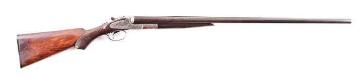 (C) L.C. SMITH 3E GRADE SIDE BY SIDE SHOTGUN.