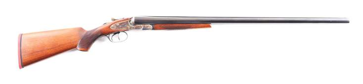 (C) L.C. SMITH FIELD GRADE SIDE BY SIDE SHOTGUN.