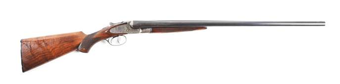 (C) LC SMITH IDEAL GRADE SIDE BY SIDE SHOTGUN.