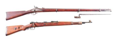 AC LOT OF 2 COLT MODEL 1863 PERCUSSION AND MAUSER