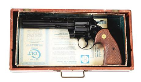 (C) 2ND YEAR PRODUCTION COLT PYTHON DOUBLE ACTION