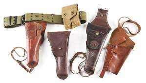 LOT OF 4: UNITED STATES MILITARY HOLSTERS.