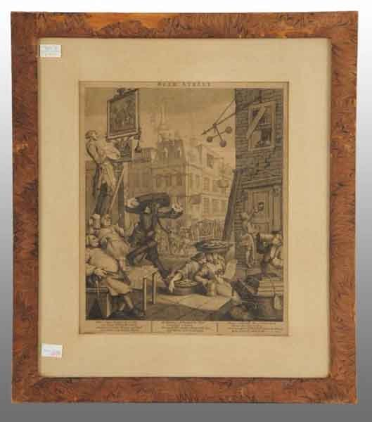 "8: ""Beer Street"" William Hogarth Print."
