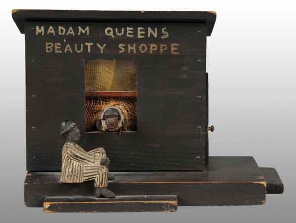 18: Madam Queen's Beauty Salon Folk Art Piece.