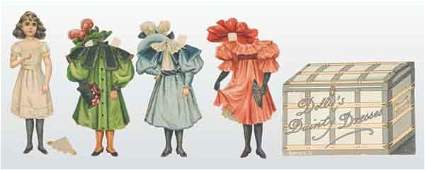 """458: Lot of Tuck """"Dolly's Dainty Dresses"""" Paper Doll."""