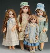 Lot of 4: Reproduction Antique Dolls.