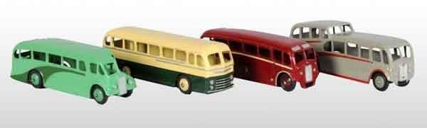 905: Lot of 4: Dinky Toys Die-Cast Buses.