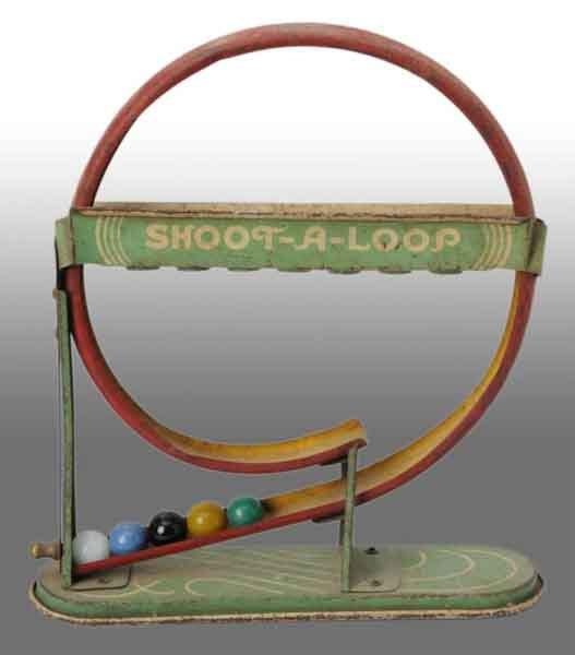 910: Tin Marble Shoot-A-Loop Toy.