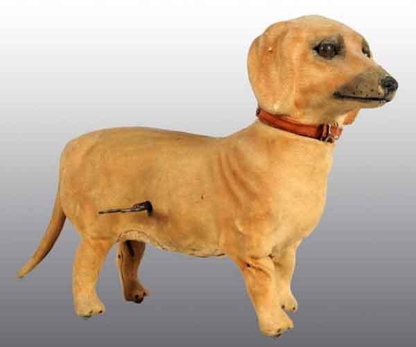 912: De Camp Clockwork Dachshund Dog Toy.