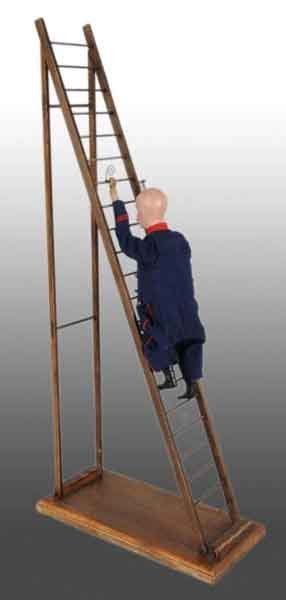 922: French Vichy Climbing Firefighter Toy.