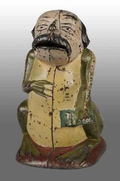 1325: Cast Iron General Butler Still Bank.