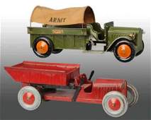 1586 Lot of 2 Pressed Steel Structo Truck Toys