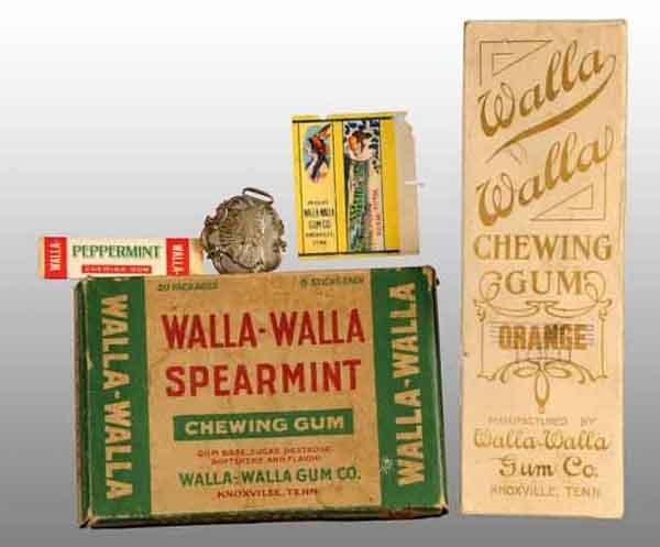 1900: Lot of 5: Assorted Walla-Walla Gum Items.