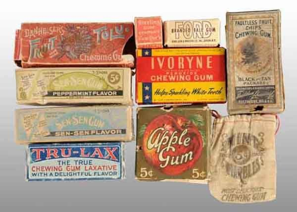 1902: Lot of 10: Assorted Gum Items.
