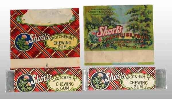 1905: Lot of 4: Short's Gum Pieces.