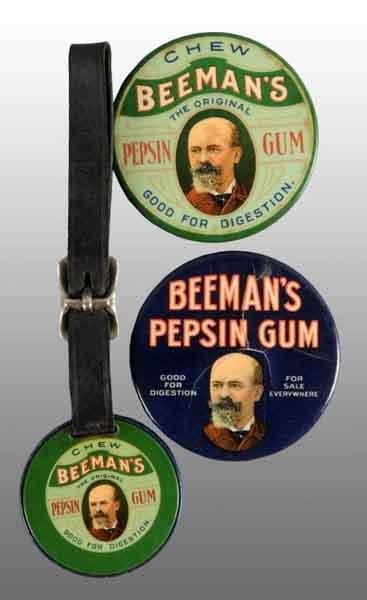 1909: Lot of 3: Beeman's Gum Items.