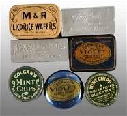 1911 Lot of 7 Assorted Gum Tins