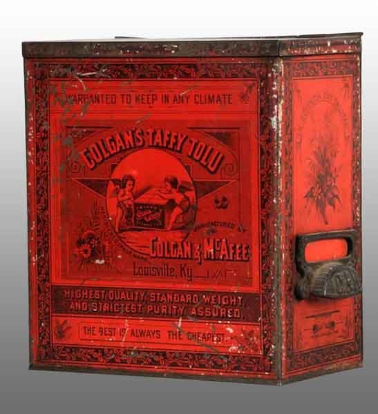 1912: Red Taffy Tolu Gum Tin.