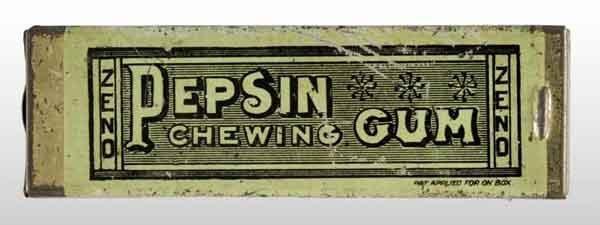 1913: Zeno Slide-Top Pepsin Chewing Gum Tin.