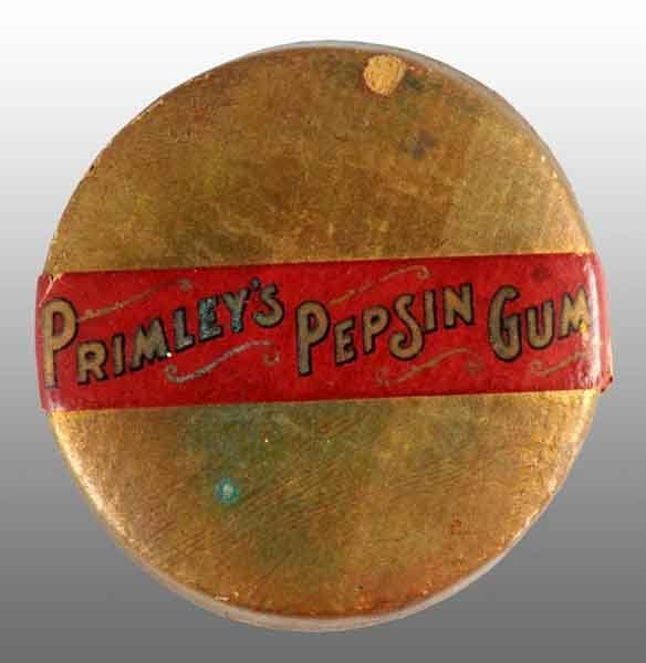 1915: Cardboard Primley's Pepsin Gum Box.