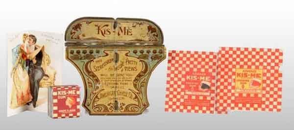1917: Lot of Kis-Me Gum Items.