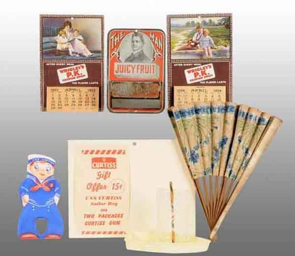 1918: Lot of 5: Assorted Gum Items.