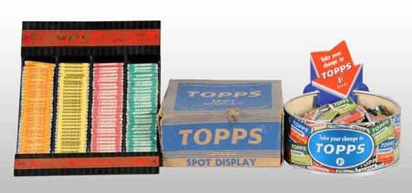 1922: Lot of 2: Tin & Cardboard Tops Gum Displays.