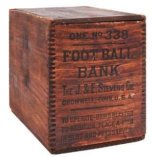"CALAMITY ""FOOTBALL BANK"" MECHANICAL BANK BOX ."
