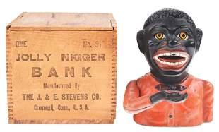 "JOLLY ""N"" MECHANICAL BANK BY STEVENS CO."