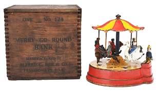 MERRY-GO-ROUND MECHANICAL BANK.