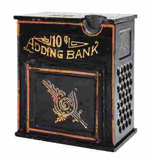 TEN CENT ADDING MECHANICAL BANK.