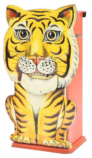 TIGER - ENGLISH TIN MECHANICAL BANK.
