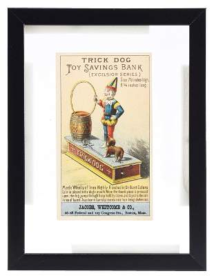TRICK DOG SAVINGS BANK TRADE CARD.