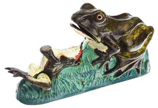TWO FROGS MECHANICAL BANK.