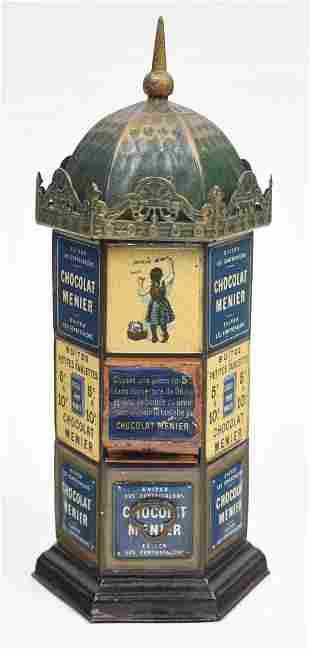 VENDING - CHOCOLAT MENIER TIN BANK.