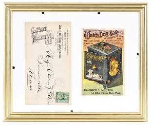 WATCH DOG SAFE TRADE CARD AND ENVELOPE.