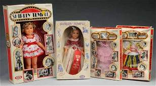 269: Lot of Boxed Ideal Shirley Temple Dolls & Outfits.