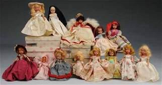 289: Lot of 13: Nancy Ann Storybooks & Dolls.
