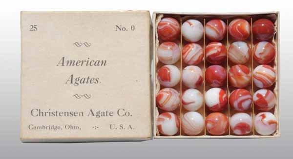 1101: Original Box of Christensen Agate Marbles.