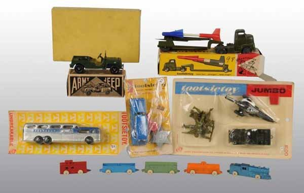 2100: Lot of 6: Tootsie Toy & Barclay Vehicle Toys.
