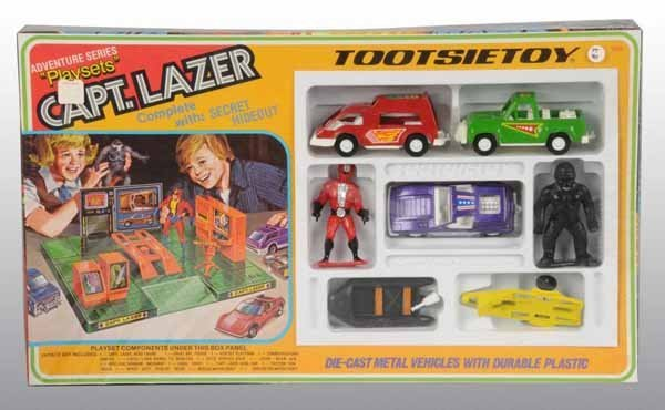 2104: Lot of 4: Tootsie Toy Space-Type Sets.