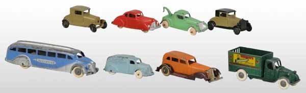 2107: Lot of 8: Tootsie Toy Die-Cast Vehicle Toys.